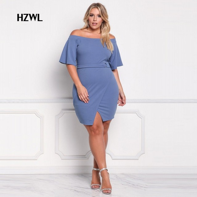 Korte jurk blauw