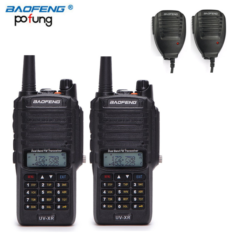 2Pcs Baofeng UV XR 10W High Power 4800Mah Battery IP67 WaterProof Antidust Dual Band Handheld Radio