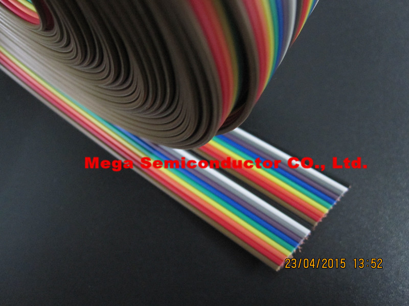 Ribbon Cable 20 WAY Flat Color Rainbow Ribbon Cable Wire Rainbow Cable 20P Ribbon Cable 1.27MM Pitch 5meters/lot IN STOCK