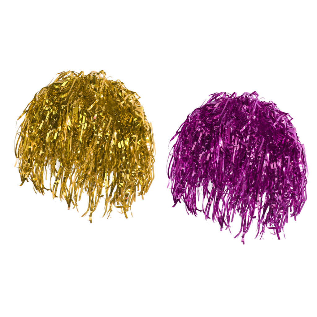 Pack Of 2pcs Women Men Shiny Foil Wigs Rose Gold Metallic Tinsel Wig Costume Fancy Dress Holiday Supplies