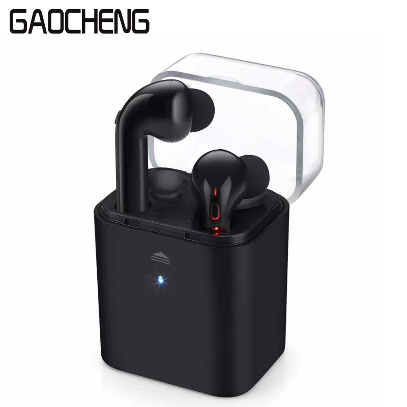 TWS Wireless Bluetooth Earphone One Drag Two Stereo Noise Cancelling Earbuds Mini Sports air pod headset with Charging Box pods wireless bluetooth headset two mini earphone together separate use stereo earbuds with charging dock for iphone android phone