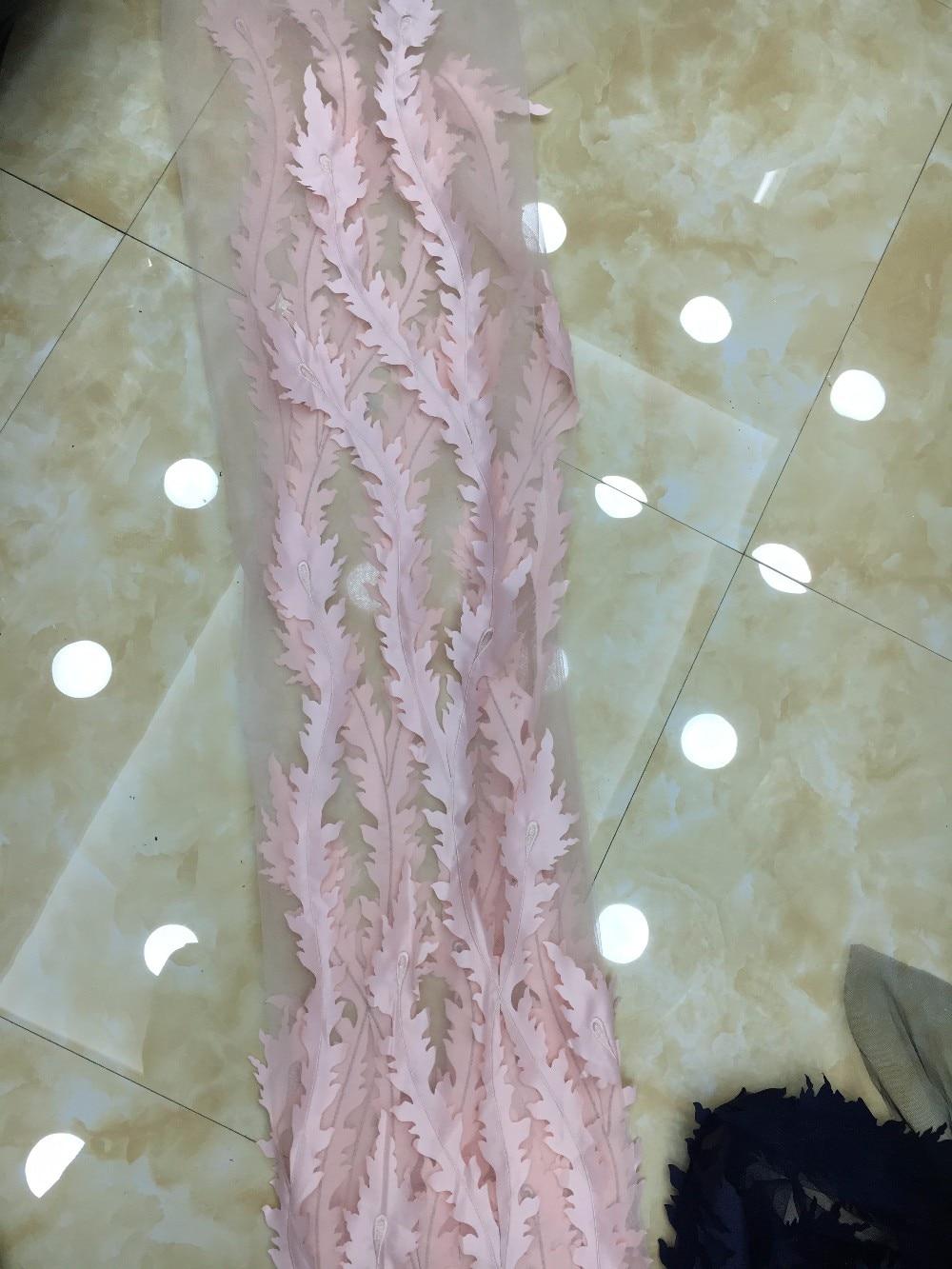 Merah muda renda / appliques renda untuk gaun pengantin, Perancis - Seni, kerajinan dan menjahit - Foto 4