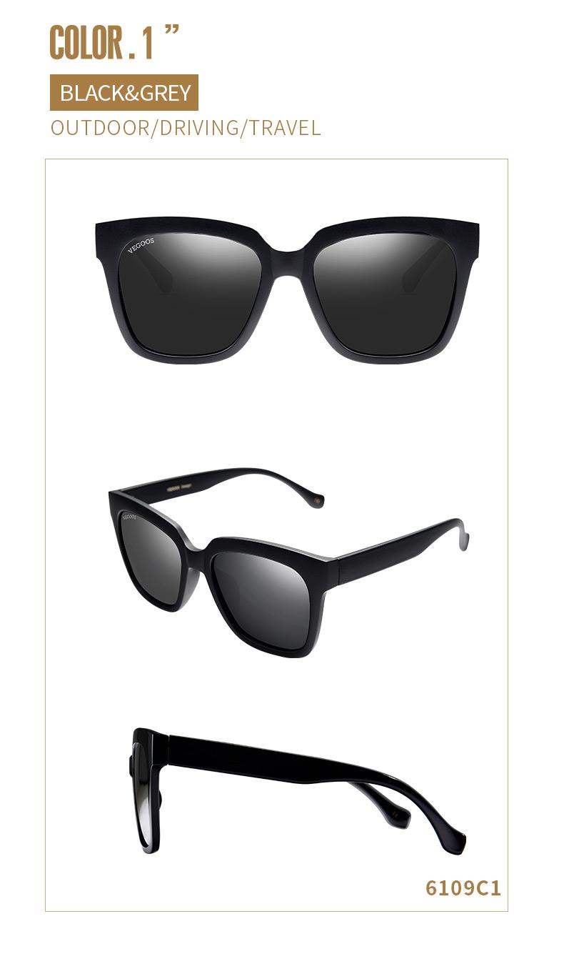 HTB1xELNhUF7MKJjSZFLq6AMBVXaL - VEGOOS Real Polarized Sunglasses for Men and Women Sun Glasses Designer Brand Eyewear #6109