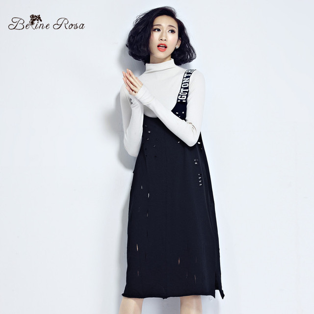 Belinerosa colete vestido preto oco out euroepan carta das mulheres camis vest dress for women tyw0189