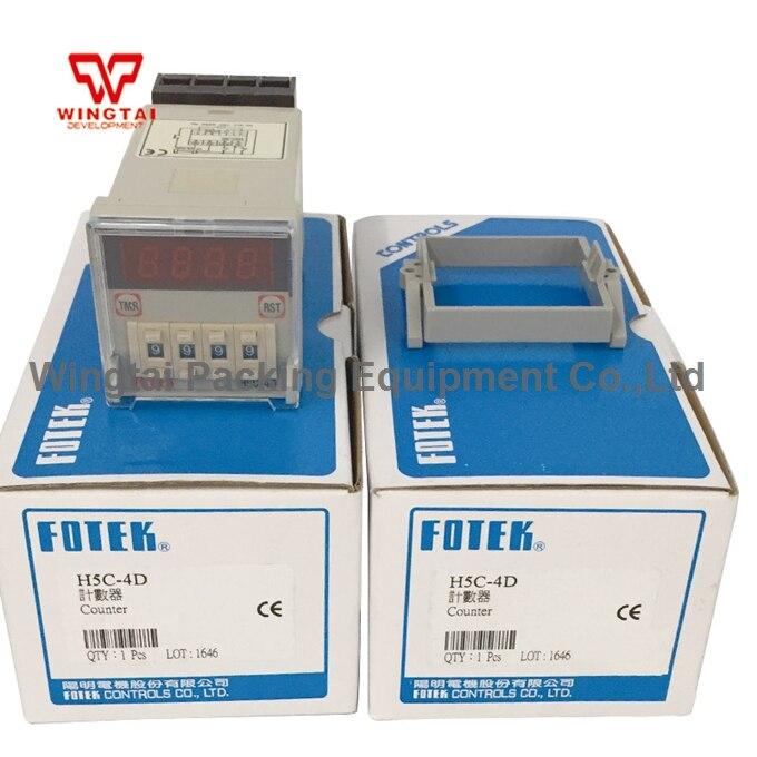 4 Digits Taiwan Original Fotek Digital electronics Counter H5C-4D taiwan original fotek  h5c 4d counter meter