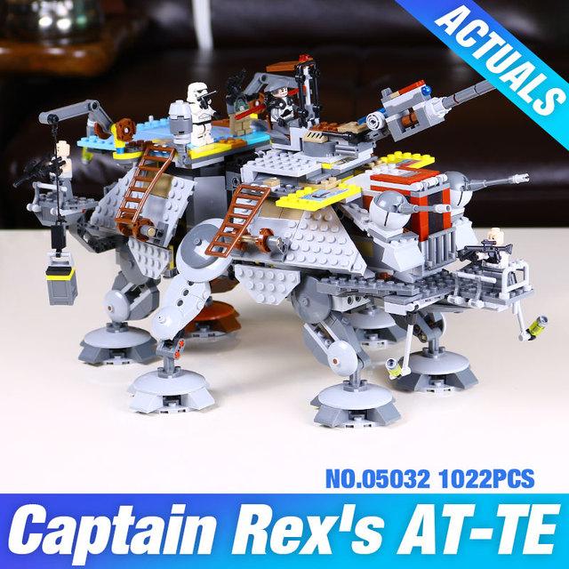 Envío Gratis 1022 unids 2016 Nueva LEPIN 05032 Star Wars AT-TE del Capitán Rex Bloques de Construcción de Ladrillo de Juguete con 75157
