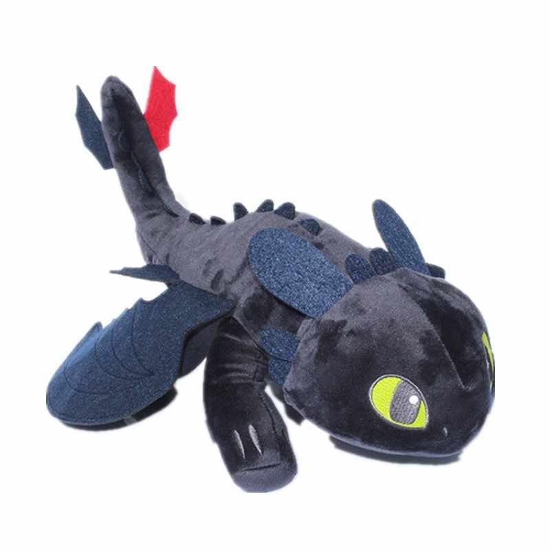 """Как приручить дракона 3 NIGHT FURY плюшевый игрушка 9 """"игрушка Беззубик игрушка плюшевая игрушка-Животное мультфильм подарок для Детская кукла 23 см"""