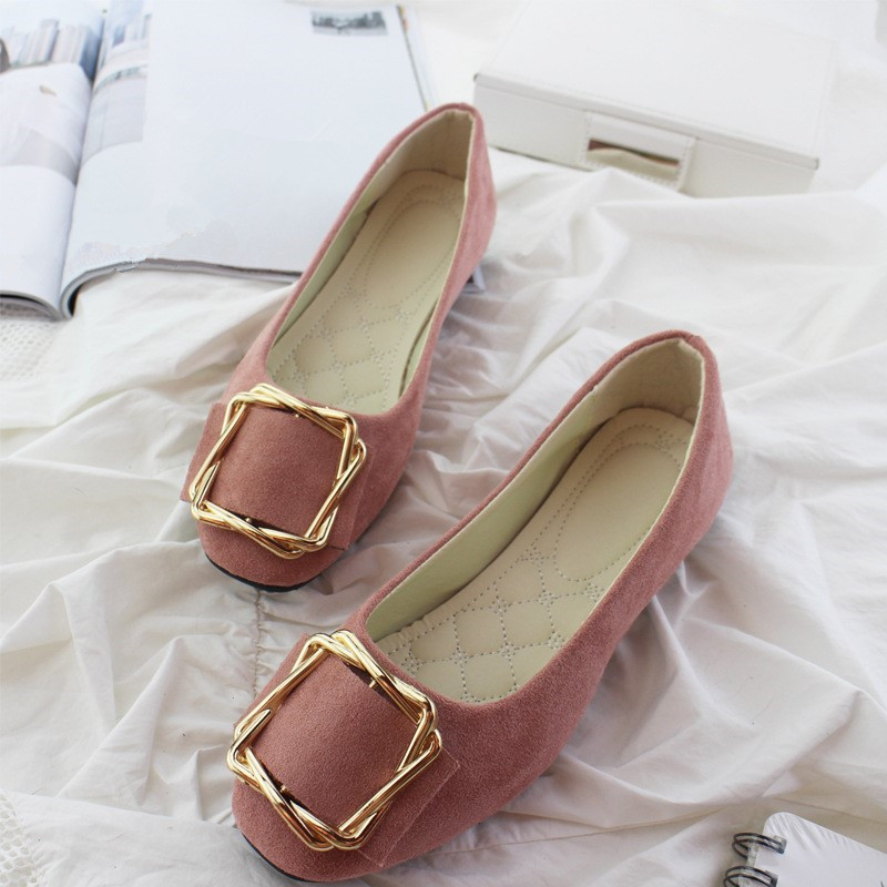 Big Size Women Flats Shallow Candy Color Shoes Woman Loafers Autumn Fashion Sweet Flat Casual Shoes Women Plus Size 35-42 11