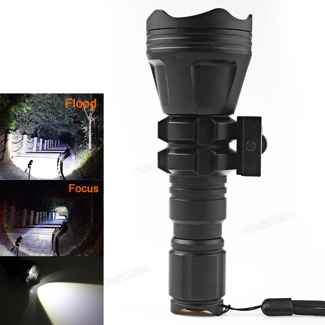 B158 LED Flashlight Convex Lens Zoom Torch Lamp XM L2 U4 Hunting Light 900 Lumens Aluminum Tactical Flash Lamp