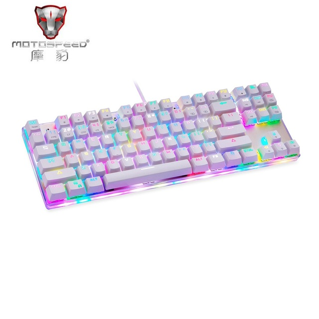 523d2975fdf Motospeed K87S Mechanical Keyboard 87 Keys Blue Switch with 9 RGB Backlight  Backlit Modes Customize Gaming