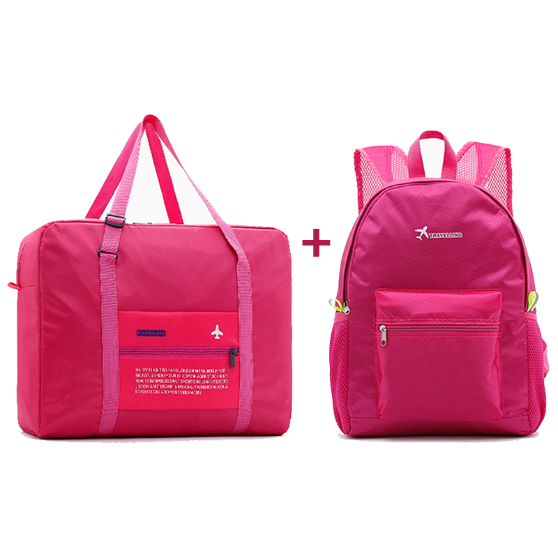 Fashion Women Travel Bags WaterProof Nylon Folding Bag Large Capacity Bag Luggage  Bags Portable Men Handbags Wholesale
