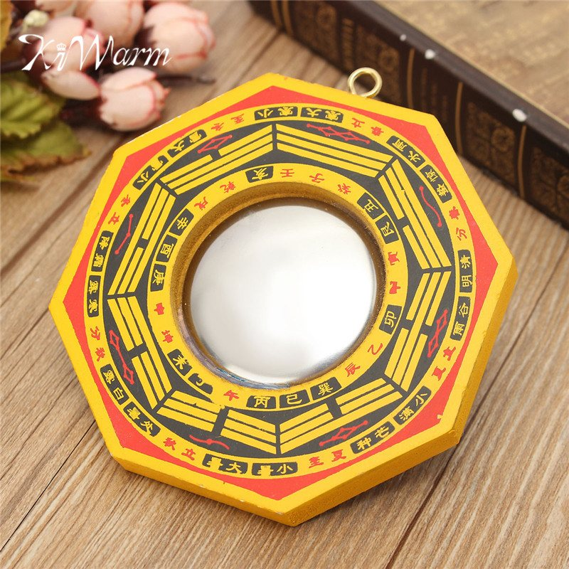 US $2 49 24% OFF|KiWarm Vintage Lucky Chinese Feng Shui Dent Convex Bagua  FengShui Mirror Taoist Talisman Energy Home Decoration Ornament-in  Figurines