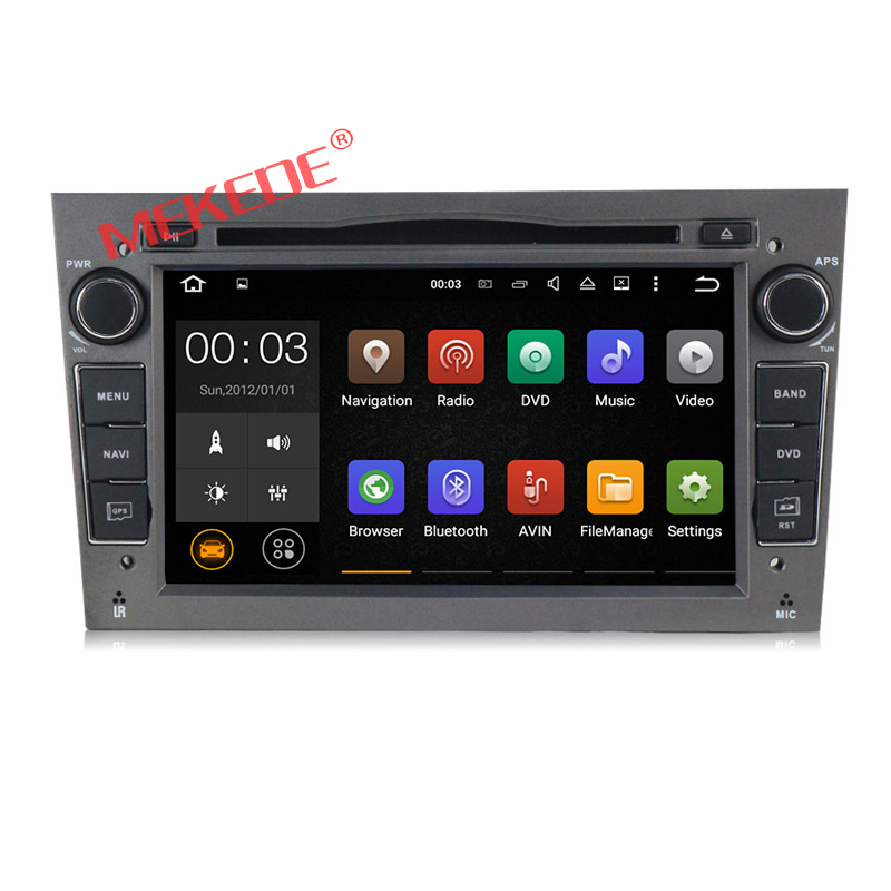 Free shipping Quad Core 4G Android 7.1 Car dvd radio audio GPS For Opel Astra H Vectra Corsa Zafira B C G support navi OBD2 DVR