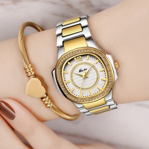 Image 1 - Dropshipping 새로운 2020 여성을위한 뜨거운 판매 손목 시계 스테인레스 스틸 골드 여성 시계 다이아몬드 손목 시계 Patek 손목 시계