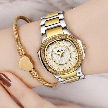 Livraison directe nouveau 2019 vente chaude montres pour femmes en acier inoxydable or femme montre diamant montre-bracelet Patek montre-bracelet
