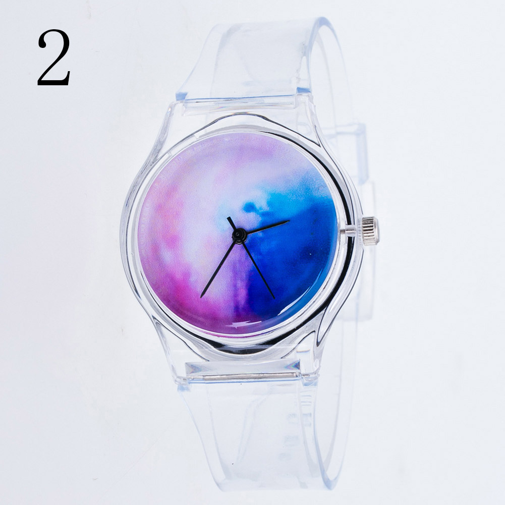 Fashion Women Wristwatches Plastic Clock Transparent Strap Student Sport Watches Lady Girls Casual Quartz Watch