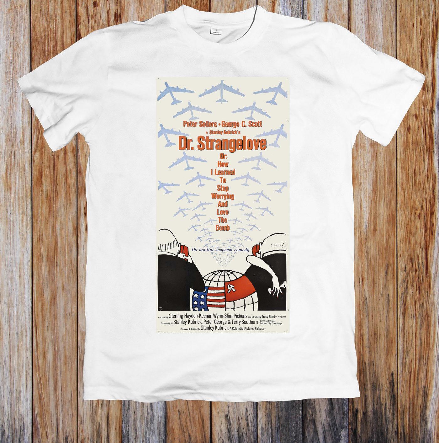 Drrangelove 1960s Retro Movie Poster Unisex T Shirt Tees Custom