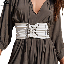 Vintage Lace Up Corset Belt Bandage Women's Waist Belt New Shape-Making Midriff-Cinchers White S-XL New