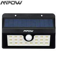 Mpow Outside Motion Sensor 20 LED Solar Lamp Garden Wall New Style Power Night lighting Weatherproof Wireless Patio Deck Lights