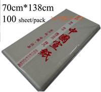 Chinesische Xuan papier  70*138 cm Reis Papier für Malerei und Kalligraphie  Weiß für Malerei Papier