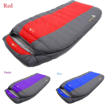 Couple pattern Ultralarge 600g/800g/1000g/1200g/1500g duck down filling comfortable camping sleeping bag accept custom order