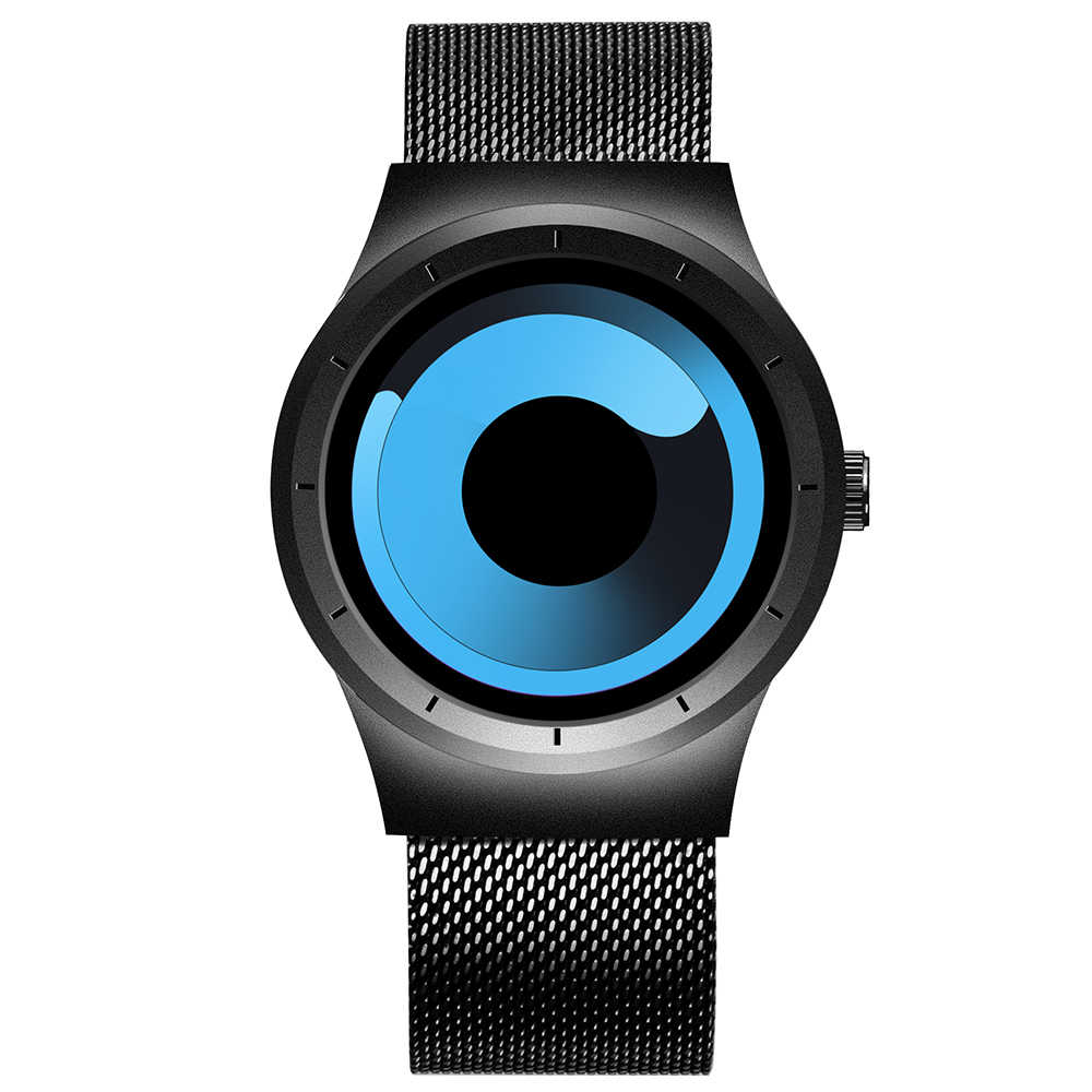 Skone nuevos relojes para hombre, correa de malla de acero inoxidable, relojes de pulsera deportivos para hombre, reloj de pulsera de cuarzo a la moda, reloj Masculino 7432