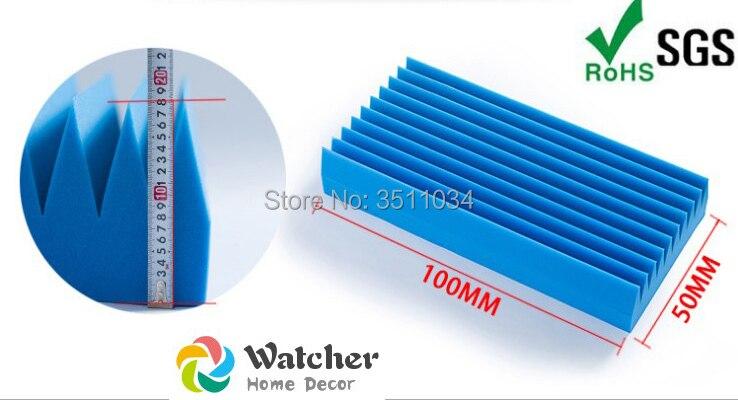 1pack 2pcs size 150x120cm blue acoustic foam panel Acoustic Studio Foam Soundproofing Absorption Home Room Treatment Wedge Tiles