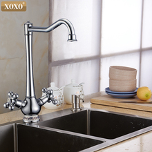 XOXO high quality water kitchen faucet Deck mounted Kitchen sink faucet mixer water tap Double Handle Kitchen Faucet 60001C