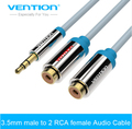Vention 2RCA female to 3.5mm male Audio Cable Gold-plated Aux Cable Stereo Audio Splitter Y Cable for Amplifier