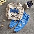 ST184 2017 новый детская одежда дети костюмы Бэтмен Футболка + брюки детей спортивный костюм мальчиков и девочек одежда набор детей одежда розничная