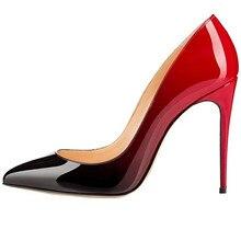 Chaussures WomenHigh Talons En Cuir Verni Chaussures Sexy Pointu Talons Femmes Chaussures De Mariage De Hauts Talons Femmes de Pompes 10 cm talons