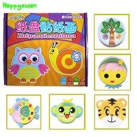 DIY Handmade Cartoon Animal Stickers Creative Paper Disc Box Toys Materials Children