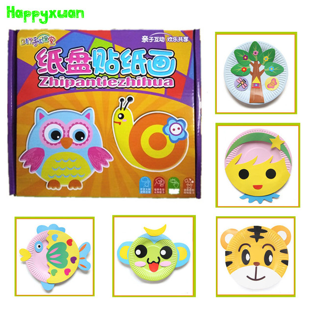 10pcsset diy paper plate art craft puzzle stickers cartoon 10pcsset diy paper plate art craft puzzle stickers cartoon animals creative gift boxes kindergarten negle Gallery