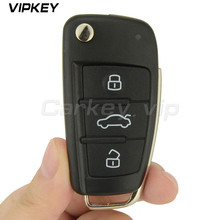 ФОТО Remotekey Flip car remote key 8P0 837 220 D for Audi A3 TT 2006 - 2013 433 mhz with ID48 chip HU66 3 button 8P0837220D