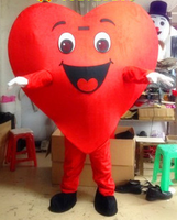 Red Heart Cartoon Dolls Performance Clothing Mascot Costume for Halloween