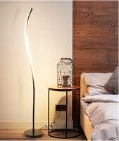 Moderne LED Boden Lampe 100 240 V Wohnzimmer Standing Pole LED Boden Lichter Schlafzimmer Familie Zimmer Büros Dimmbare dekor Beleuchtung-in Stehleuchten aus Licht & Beleuchtung bei