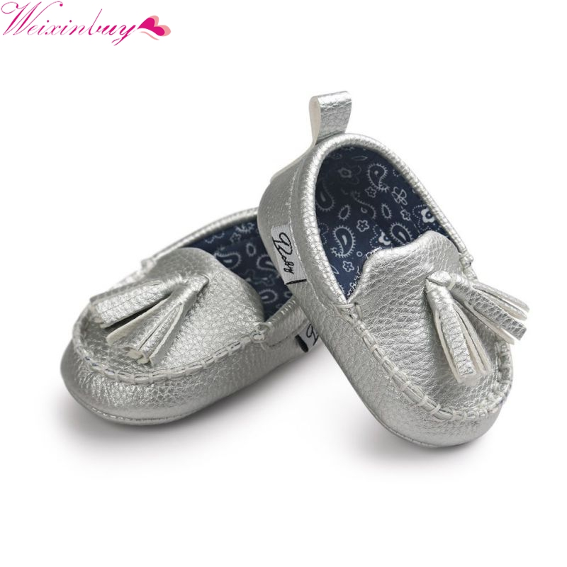 Infant Boy Girl Toddler Moccasin 0-18M Baby Shoes Baby Soft Sole Tassel PU Leather Shoes