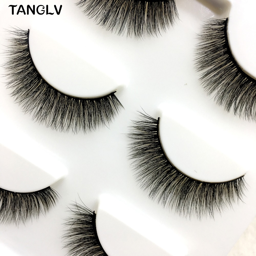 Beauty & Health Beauty Essentials Makeup 3d Sexy 100% Mink Hair Natural Thick Handmade False Natural Long Fake Eye Lashes Handmade Thick False Eyelashes Black Modern Techniques