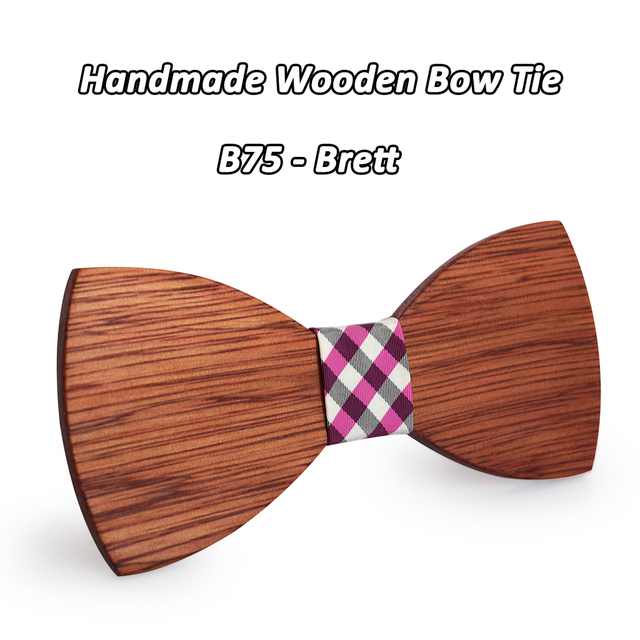 Mahoosive Simple Men's Suit Wooden Bow Tie For Groom Wedding Party Men Formal Wear Business Cravat Bow tie Clothing Accessories