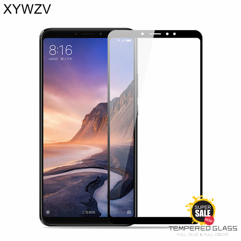 Full Glue Cover Glass Xiaomi Mi Max 3 Tempered Screen Protector For Phone Film <