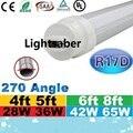 V-Shaped T8 R17D 4ft 5ft 6ft 8ft Led Tube Light Cooler Door Led Fluorescent Tubes Lamp 270 Angle AC 85-265V UL CSA