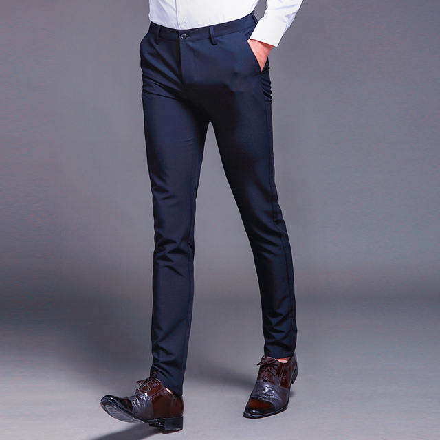 Fashion New High Quality Cotton Men Pants Straight Spring and Summer Long Male Classic Business Casual Trousers Full Length Mid 61