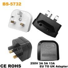 Eu 2Pin To Uk 3Pin Power Socket Travel Plug Adapter Converter AC Power Socket Plug Travel Charger Universal Adapter Converter