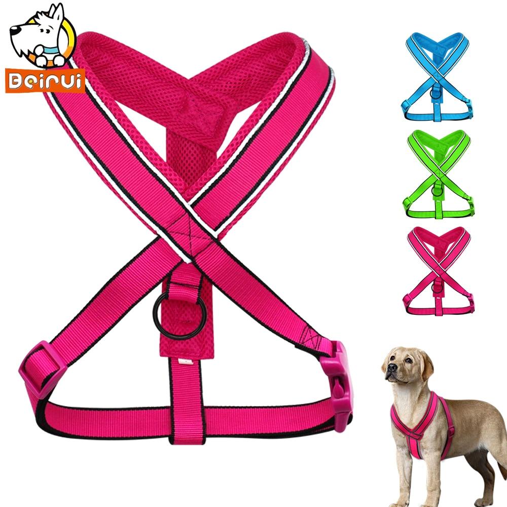 Izturīgs atstarojošs suņu vads elpojošs solis neilona sietu siksnās vidēji lieliem suņiem Mājdzīvnieku garums regulējams S M L XL