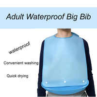 1PC Waterproof Anti-oil Reusable Waterproof Big Size Adult Elder Mealtime Bib
