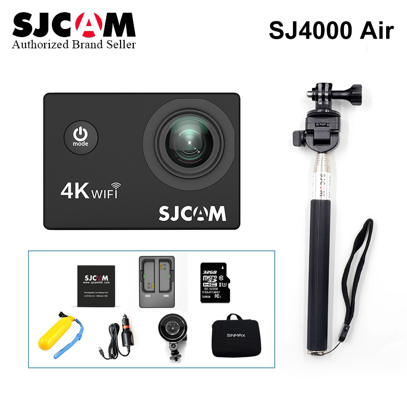 цена на 2018 ~Original SJCAM SJ4000 AIR Sport Action Camera Full HD 2.0 Screen Diving 30M Waterproof Camera DVR Camcorder Sports DV Cam