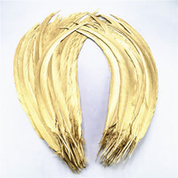wholesale Natural Dipped Gold Silver Pheasant Tail Feathers 50pcs 200pcs 40 80CM DIY Christmas party decoration Chicken plumes