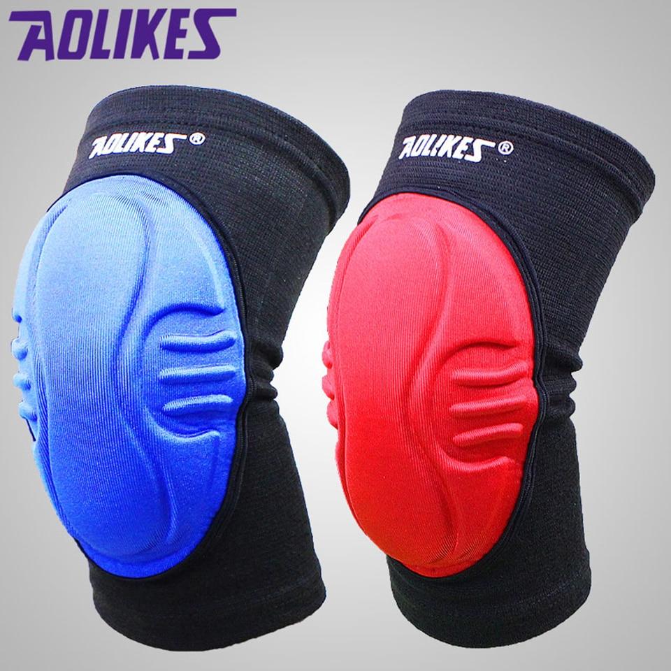 AOLIKES 1Pair Sponge Knee Pads for Dancing Yoga Sliders Patella Shock Absorption Protetor Rodilleras Support Brace Kneecap