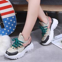 New Fall Winter Platform Sneakers Women Height Increasing 7 cm Chunky Shoes Woman Plus Size 35 40 Ladies Lace Shoes BeautyFeet