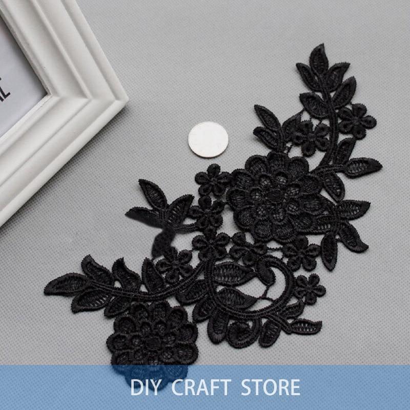 2 unids = 1 par 26 * 15 cm bordado floral soluble en agua de costura - Artes, artesanía y costura - foto 2